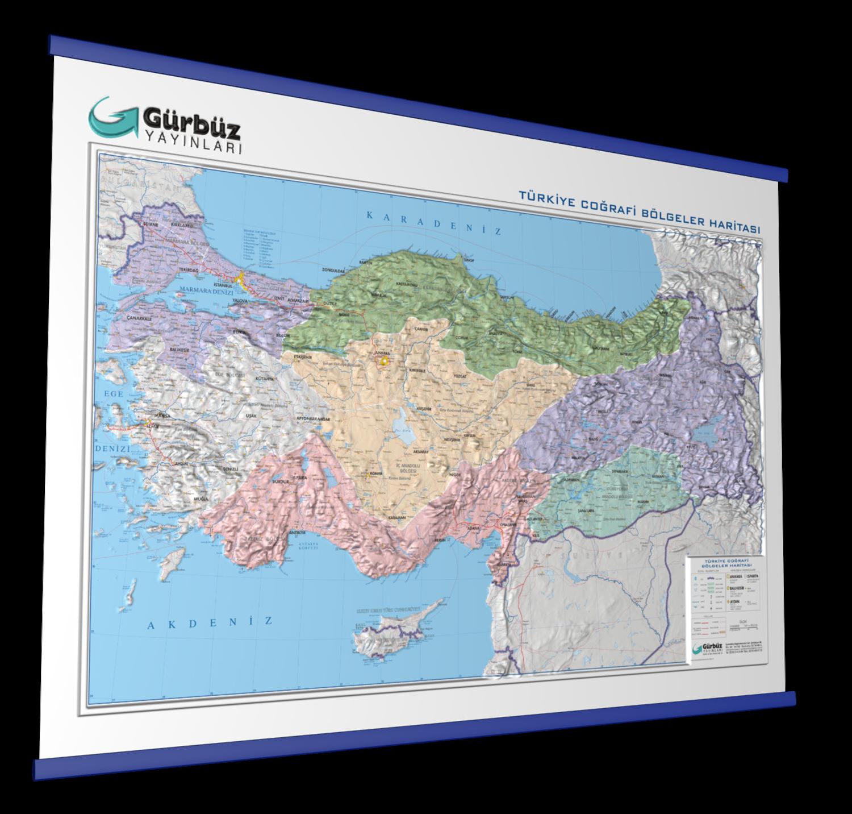 Kabartma Turkiye Bolgeler Haritasi